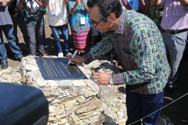 President Lu-Olo inaugurates historical monument Laba-Lou Ossu