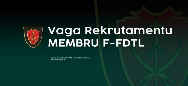 Kritéria Vaga Rekrutamentu F-FDTL